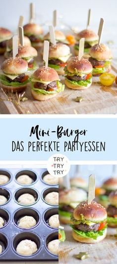 The perfect party snack! Mini burgers - The perfect party snack! Mini burgers - - The perfect party snack! Mini burgers – The perfect party snack! Mini burgers – The perfect party snack! Mini burgers – The perfect party snack! Party Finger Foods, Snacks Für Party, Bug Snacks, Party Food Bars, Healthy Snacks, Tapas Party, Birthday Party Snacks, Grill Party, Birthday Brunch