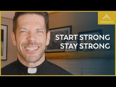 Starting strong is easy, but staying strong—perseverance—is a mark of holiness. For those who do endure, the endurance builds character. Father Mike Schmitz, Staying Strong, New Relationships, Faith In God, Catholic, Thoughts, Youtube, Prayer, Religion