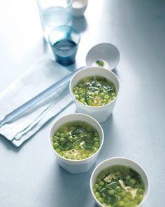 Pea, Lemon, and Egg-Drop Soup - Martha Stewart Recipes