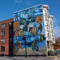 The Best Cities in America for Street Art.  If you have to live near any of this you'll quickly see it for what it is: government sanctioned vandalism trying to get the least offensive graffiti on the city's walls rather than even more offensive standard scribbling. The buildings residents suffer through are usually destroyed by kids who don't even live in the neighborhood.