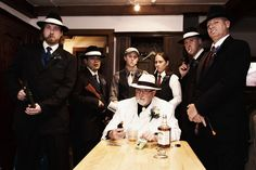 Our forties gangster themed wedding...the 'family'...a better image photography