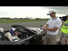 Mercedes-Benz SLS AMG Roadster, David Coulthard caught a golf ball (hit by Jake Shepherd) while driving the car. The ball was travelling at 178mph and was caught 275 metres from the tee, setting the record for the 'furthest golf shot caught in a moving car.'  (Via Chris)