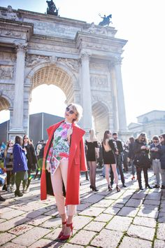 Wonderful Blogger Darya from the CaBlook wearing What's Inside You total look in Milan #mfw #streetstyle