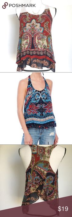 Patrons of peace Urban Outfitters, Boho Festival Tank with Anthro Style.  See photos for measurements. Items that are styled with this Tank can be found in other listings in my closet!   Please take note that the stock photo of model is not the same color as the item I am selling. Patrons of Peace Tops Tank Tops