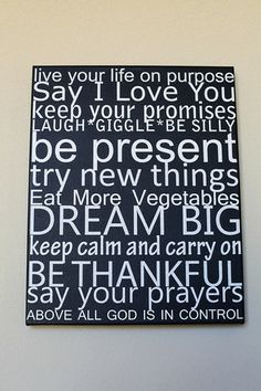 House Rules! 16x20 Canvas Gallery Wrap