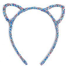 Blue Ditsy Ears Headband Little Miss Matched, Ear Headbands, Ditsy, Ears, Beaded Necklace, Blue, Jewelry, Fashion, Beaded Collar