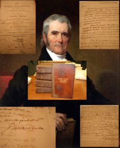 """February 4th is the date of the 1801 swearing in of John Marshall as Chief Justice of the United States. In our collection, we have a letter from Justice Marshall to Charles Coatsworth Pinkney discussing his thoughts on the new Jefferson administration and a copy of his 1804, 5 volume, work """"The Life of George Washington."""""""