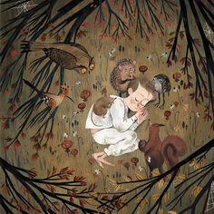 "610 次赞、 5 条评论 - çizgili masallar (@cizgilimasallar) 在 Instagram 发布:""Peter and the forest by Júlia Sardà @juliasardaportabella . . . #juliasarda #childrensbook…"""