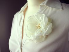 Fabric flower corsage