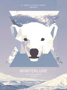 Winterlude Poster & Tickets by Frank JE Flitton, via Behance. Geometric abstract polarbear collage.