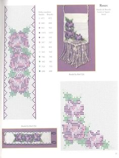 Color schemes mosaic weave - Flowers - Arrangements weaving beads - Treasury papers - Weave beaded jewelry, trees and flowers, circuits u Peyote Stitch Patterns, Seed Bead Patterns, Beading Patterns, Beaded Purses, Beaded Bags, Beading Projects, Beading Tutorials, Bead Loom Designs, Beaded Banners