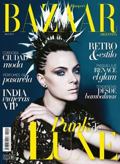 punk de luxe: camila castares by battellini for harper's bazaar argentina april 2013 Fashion Magazine Cover, Fashion Cover, Magazine Cover Design, Magazine Covers, Video Photography, Editorial Photography, Photography Magazine, Punk, Harper's Bazaar