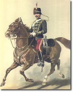 British Empire: Armed Forces: Uniforms: British Cavalry: 1840 - 1969: The 11th Hussars