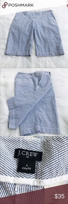 """J. Crew City Fit Bermuda Shorts. Casual city for Bermuda Shorts from J. Crew. It has amazing cut and looks good with loafer or sandals. 12"""" inseam. 16"""" waist.  Like new condition. J. Crew Shorts Bermudas"""