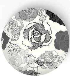 """Roses"" 10 inch plate"