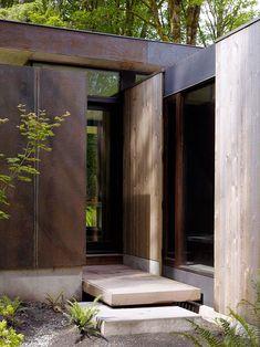 corten steel. Case Inlet Retreat by MW Works Architecture+Design