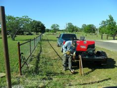 5 acres of pipe fence home stretch! welding