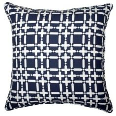 COCOCOZY Plaid Solid Linen Pillow Navy Reverse! http://shop.cococozy.com