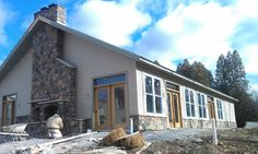 Pool house, masonry fireplace  Village Craft Iron & Stone, Inc.