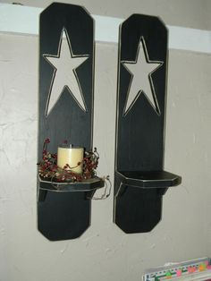 Primitive Wall Shelf Pair by Inspiredblessings on Etsy, $35.00........eh, I can make these;)