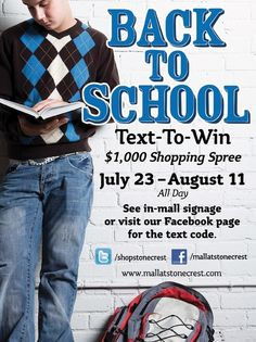 Text to Win Back to School Stuff Text Codes, School Stuff, Back To School, Shopping Spree, Retail, Engagement, First Day Of School, Engagements, Entering School