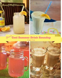 Cool Summer Drink Roundup - Blended or iced, cafeinated or fruity, all of my sugar free smoothies and drinks in one post and ready for summer.