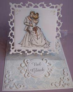 Ullis Bastelwerkstatt: Hochzeitskarte