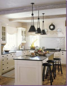 Maybe its time to redo my kitchen. This would certainly work!    via cotedetexas.blogspot.com