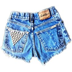 vintage cutoffs with studded back pocket