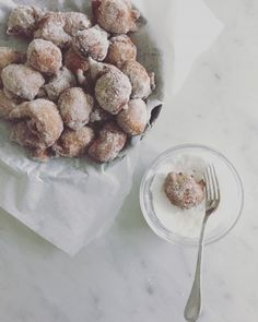 Castagnole: Chestnut and Apple Fritters