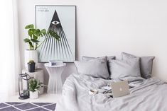minimalistic linen bedding