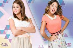 Vamos a volver a revivir los momentos de #Violetta1 y #Violetta2. Que look le gusta mas?