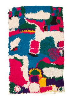 boucherouite rug {Colorful boucherouite rugs were made by Berber women between the 1950s and 1970s}