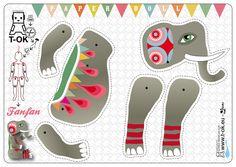 PAPER DOLL Fanfan l'éléphant