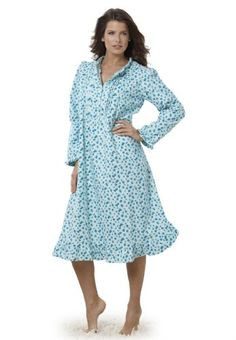 567f82584ae Only Necessities Women s Short Cotton Flannel Print Nightgown. Plus-Sizer.com  · Plus-Size Lingerie