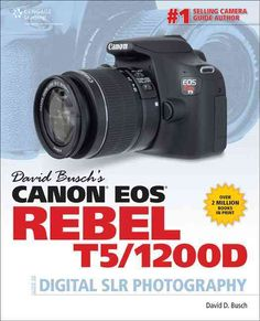 DAVID BUSCH'S CANON EOS REBEL T5/1200D GUIDE TO DIGITAL SLR PHOTOGRAPHY is the complete all-in-one resource and reference for the CANON EOS REBEL T5/1200D, one of Canon's newest dSLR's, featuring an 1
