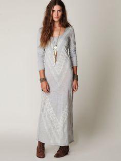 Long Sleeve Graphic Maxi Dress