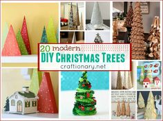DIY Modern Christmas Trees (Holiday Crafts) - Craftionary