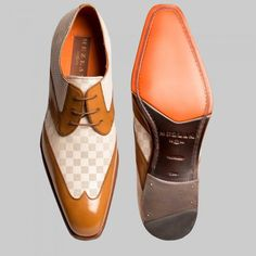 c3832f28cd Mezlan Levi Mens Shoes Camel & Bone Smooth Calfskin Oxfords (MZW2829).  Blogs De ModaBotines HombreCalzado HombreZapatos ...