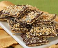 Chocolate Matzah Buttercrunch - Made this after Passover to get rid of almost one box of matzah we still had in the house. Just like you pre-prepare for Passover, getting rid of all chametz, you must AFTER-prepare your home...get rid of all matzah. And then you get to make this delicious treat!