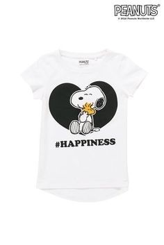 Buy White Snoopy Happiness T-Shirt (3-16yrs) from the Next UK online shop