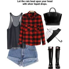 Today is a Rainy Day by carolinamizan on Polyvore featuring polyvore, fashion, style, Hunter and Zara
