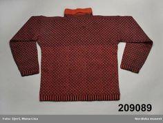 Knitted jumper, worn in Bohuslän, Sweden