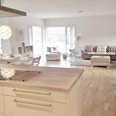 Savršen raspored i osvjetljenje Living Room Kitchen, Home Living Room, Kitchen Decor, Kitchen Design, Sweet Home, Casa Clean, Living Room Inspiration, Home Furniture, House Design