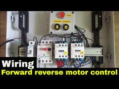 How to wire Forward Reverse motor control. Electrical Installation, Electrical Wiring, Ladder Logic, Delta Connection, Cad Drawing, Control System, Knife Making, Motors, Circuit