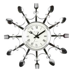 Kitchen clocks- a necessary component for kitchen kitchen clocks unique kitchen wall clocks KZRSAHI Elegant Kitchens, Cool Kitchens, Unique Knives, Real Kitchen, Kitchen Modern, Kitchen Ideas, Kitchen Wall Clocks, Clock Decor, Wall Decor