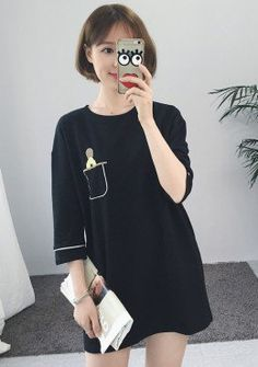 Buy Cartoon Print T-Shirt Dress | mysallyfashion.com Malaysia