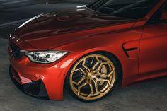 Sakhir Orange BMW M4 on Velos XX 1 pc Forged Wheels