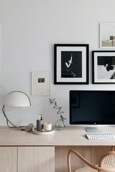 Anne Sage Reveals Her Home Office Makeover Grey Interior Doors, Office Interior Design, Office Interiors, Home Office Setup, Office Inspo, Built In Desk, Office Makeover, Small Spaces, Room Decor