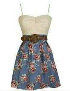 Beautiful flower print dress.  ~ Teenage Fashion ~